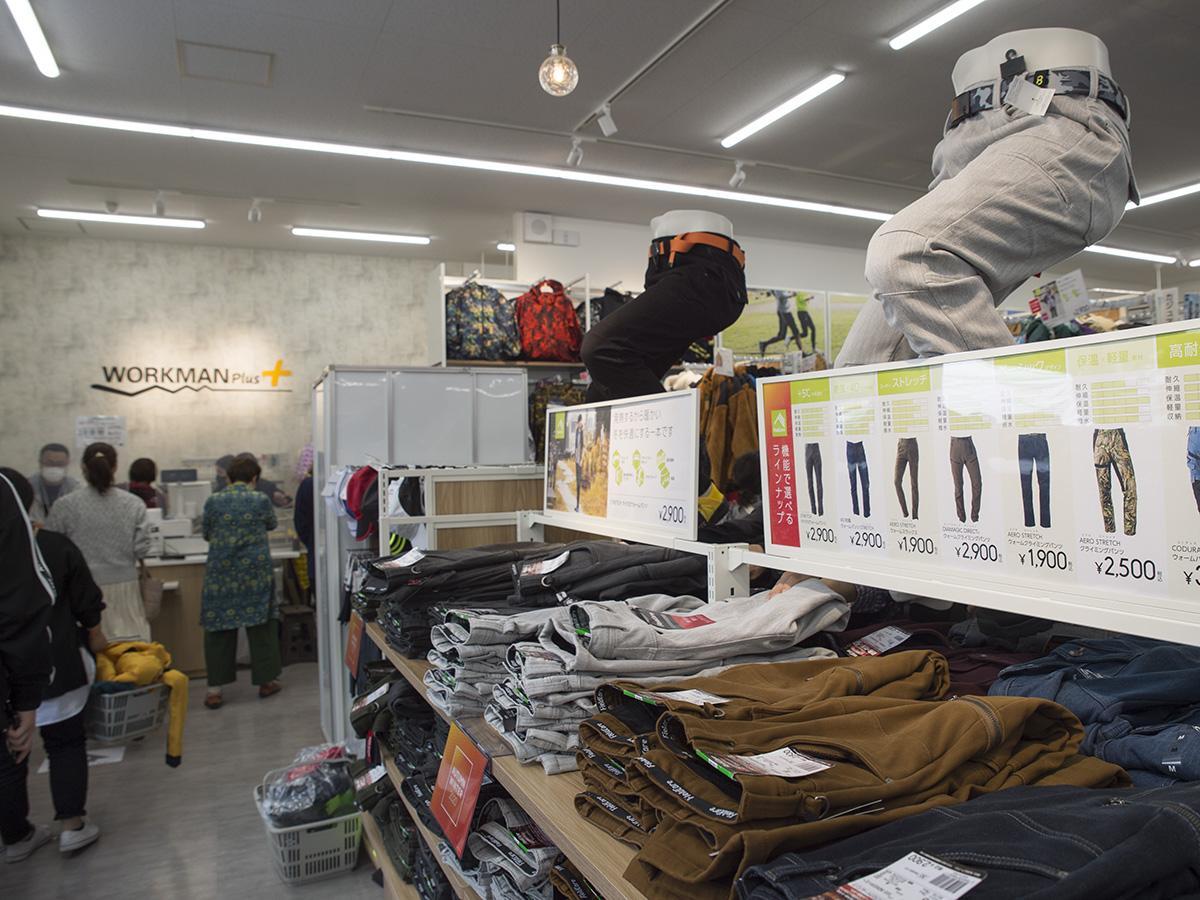 WORKMAN Plus南長崎店の店内の様子