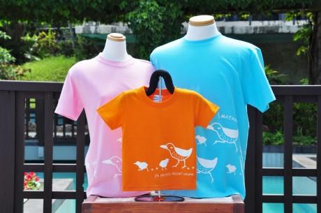 「ヤンバルクイナ」のTシャツ、プライベートリゾートオクマで販売