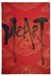 沖縄・宜野湾のカフェで「書」作品展 作者が指導する「美漢字ワーク」も