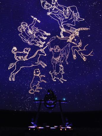 オリオン座中心にたどる冬の星座