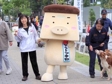 なかのまちめぐり博覧会マスコットキャラクター「クルトン中野」