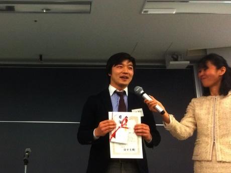 最優秀賞を受賞した「オマツリジャパン」山本陽平さん