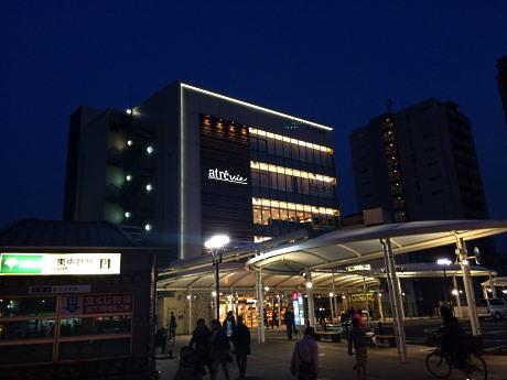 昨年ロータリーが完成したJR東中野駅西口