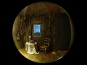 中野ブロードウェイで桑原弘明さんスコープ作品展 のぞき穴の先にミニチュア空間