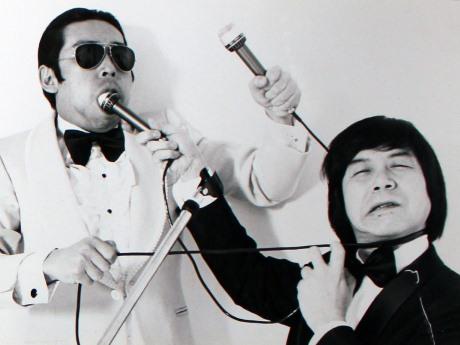 タモリさん(左)と赤塚不二夫さん(写真提供=國玉照雄さん)