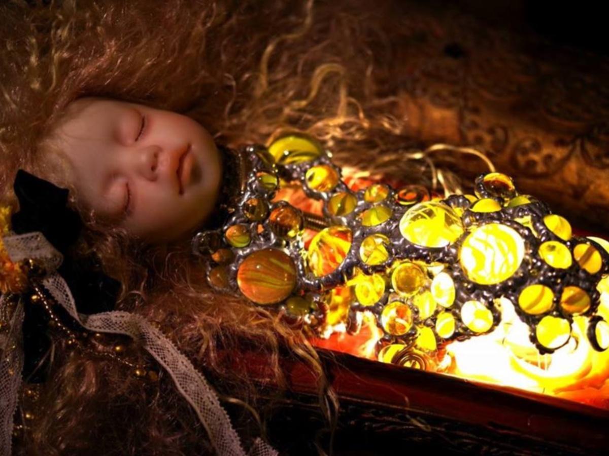 展示している林美登利さんの作品