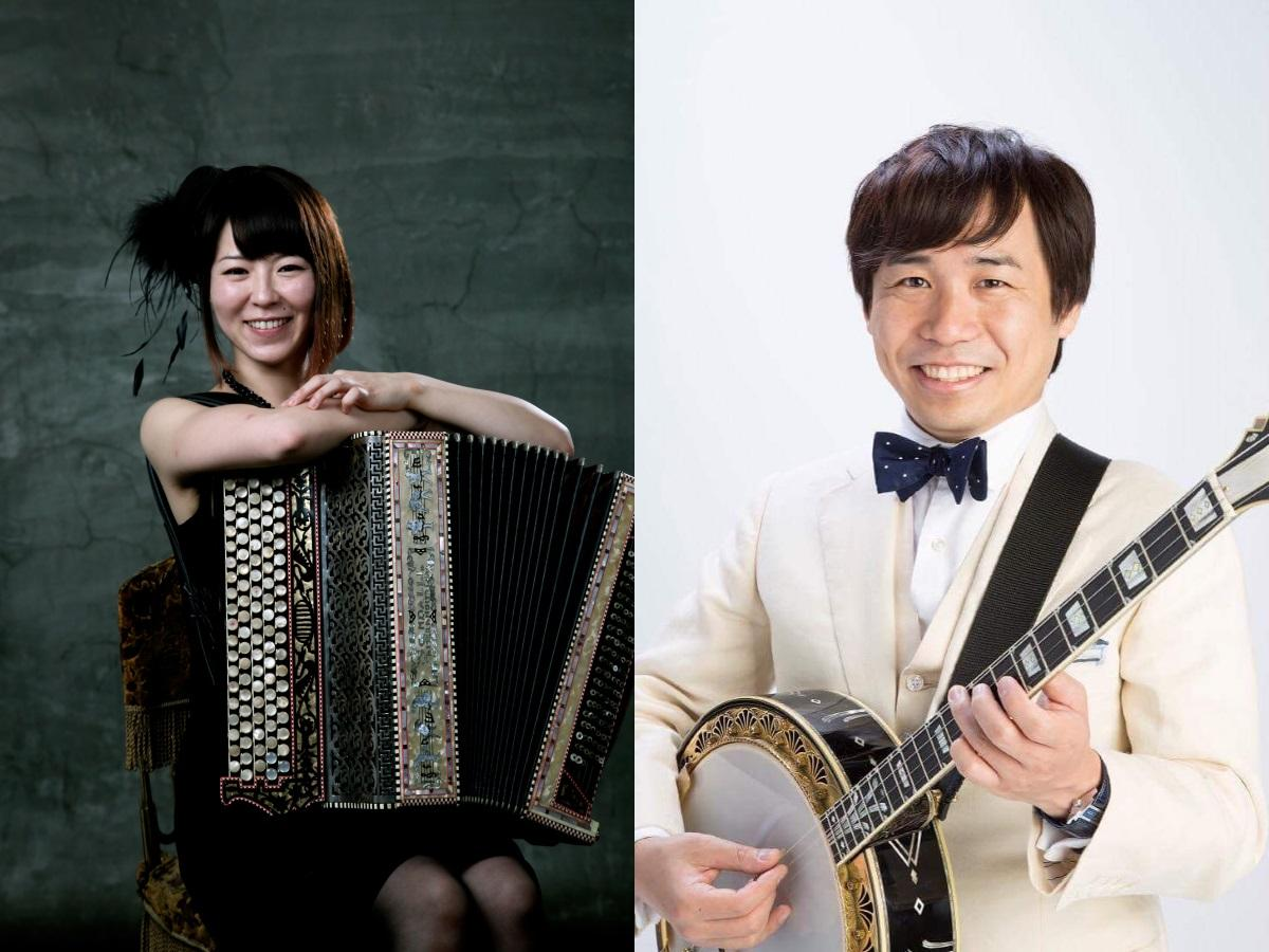 かとうかなこさん(左)と青木研さん(右)