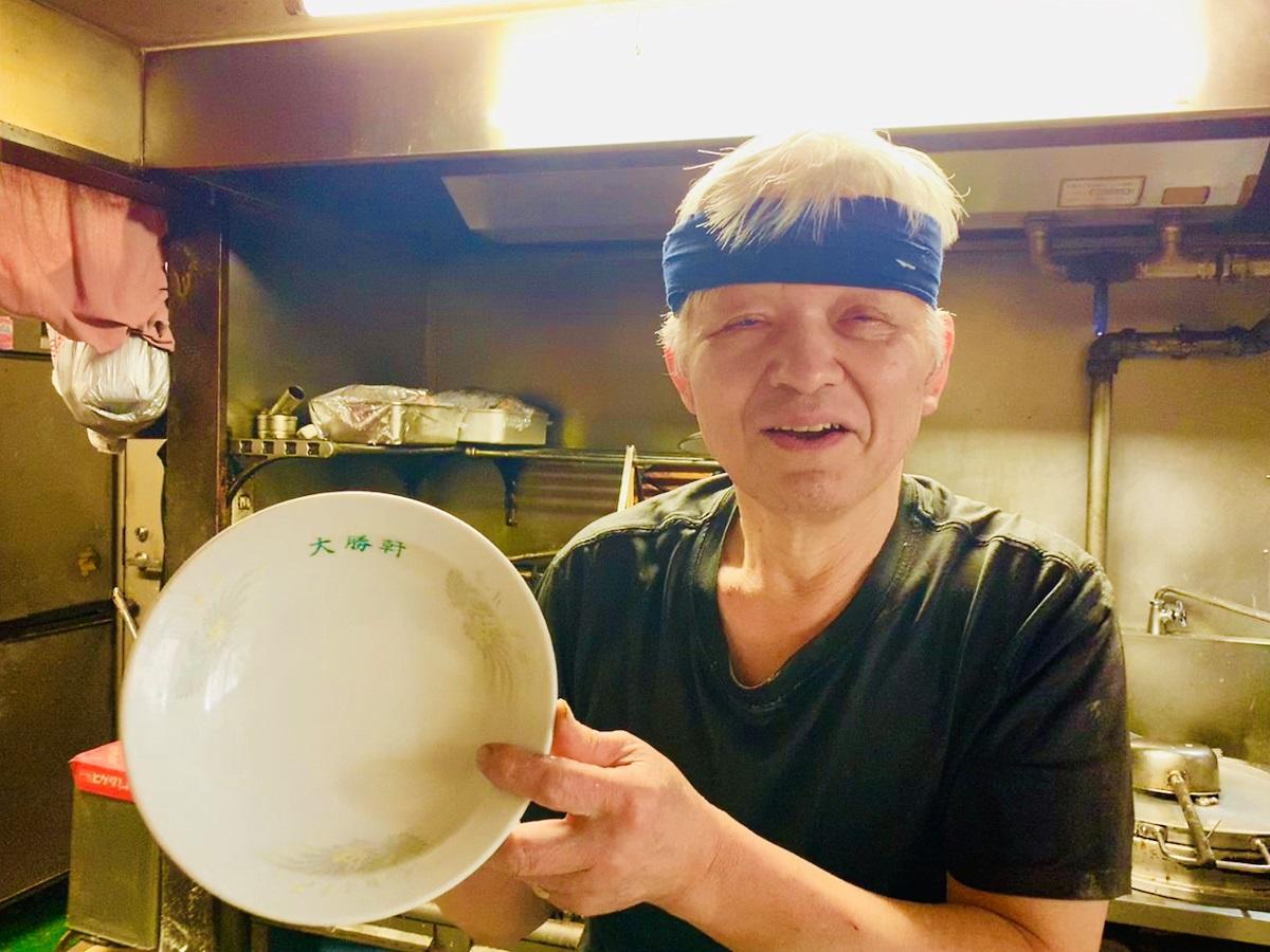 「つけそば大勝軒 鍋屋横丁」の大将・横山昇さん