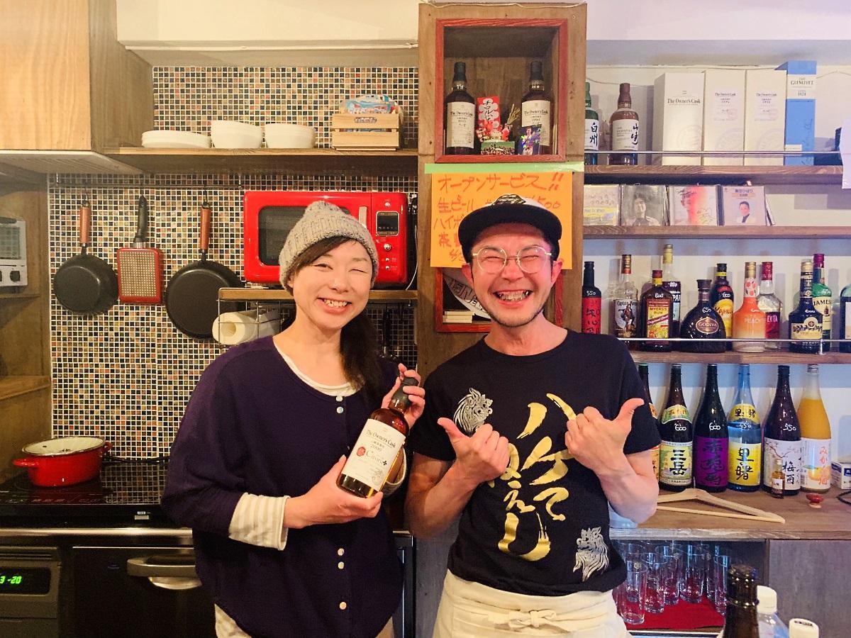 店主の桜井恭子さん(左)と店長の桜井のぶゆきんぐさん(右)