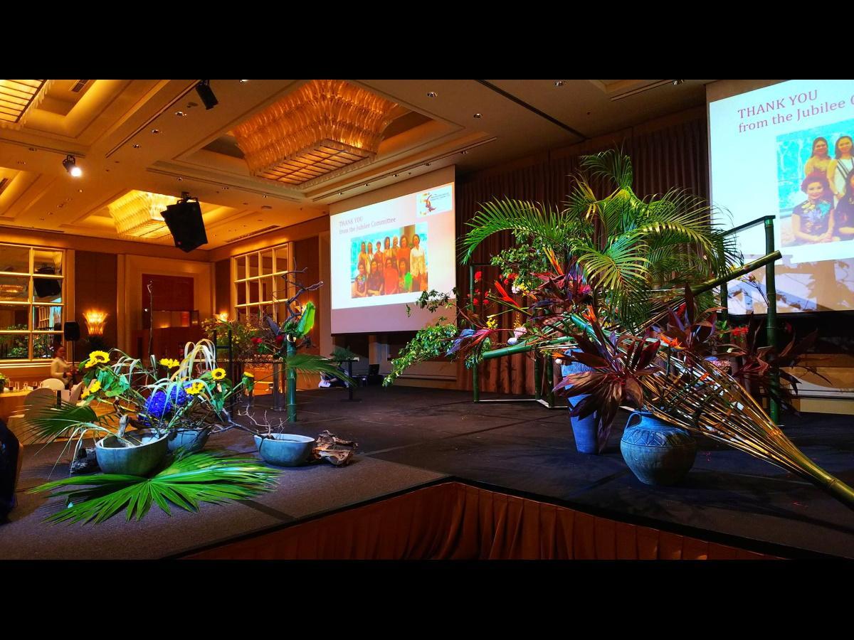 今年4月のシンガポールでの生け花ショーの時の粕谷尚弘さんの作品