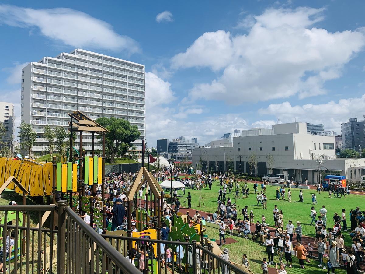 「広町みらい公園」開園日の様子