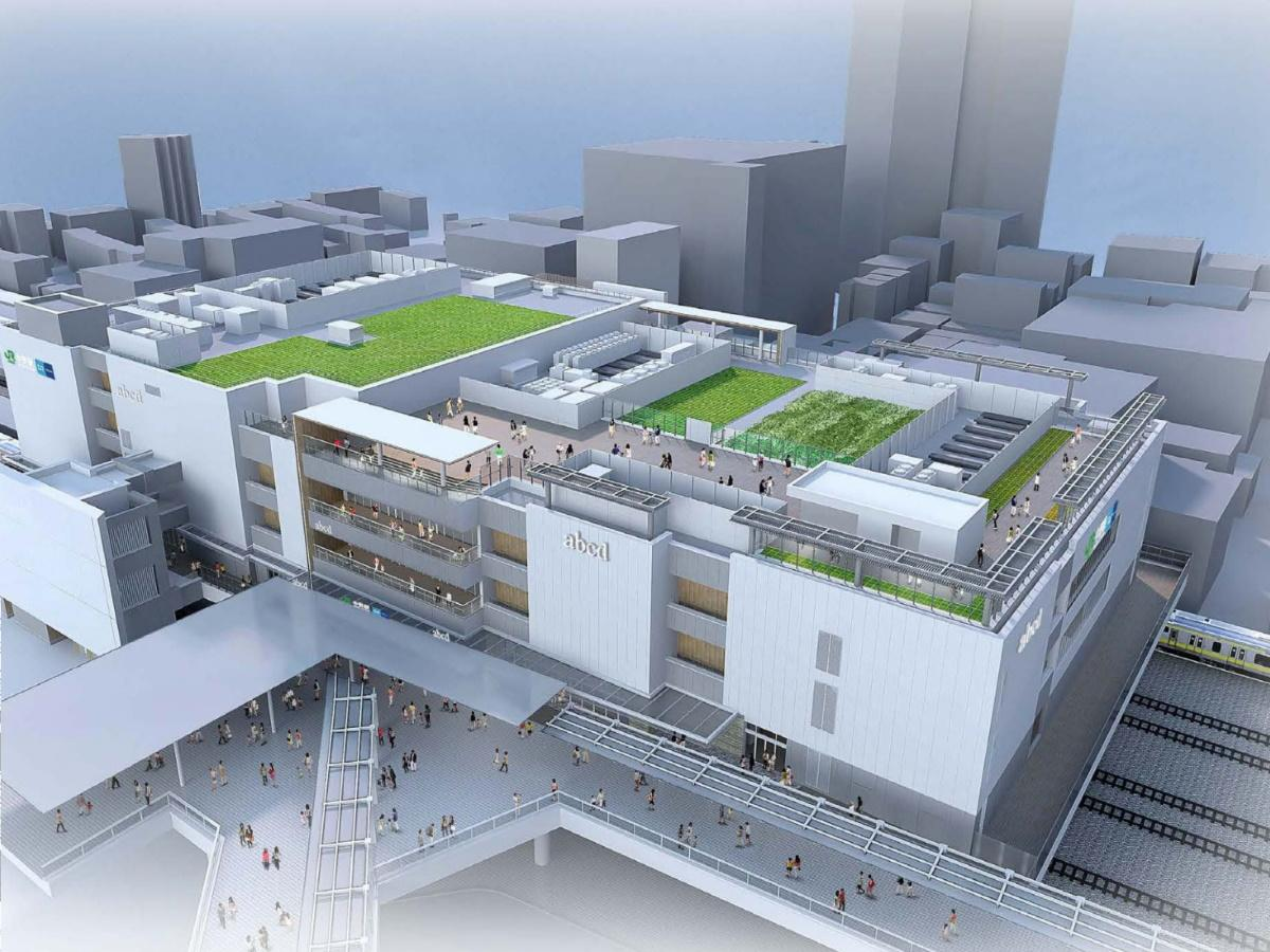 発表されたJR中野駅の橋上駅舎イメージ(西口改札北側から見たパース)