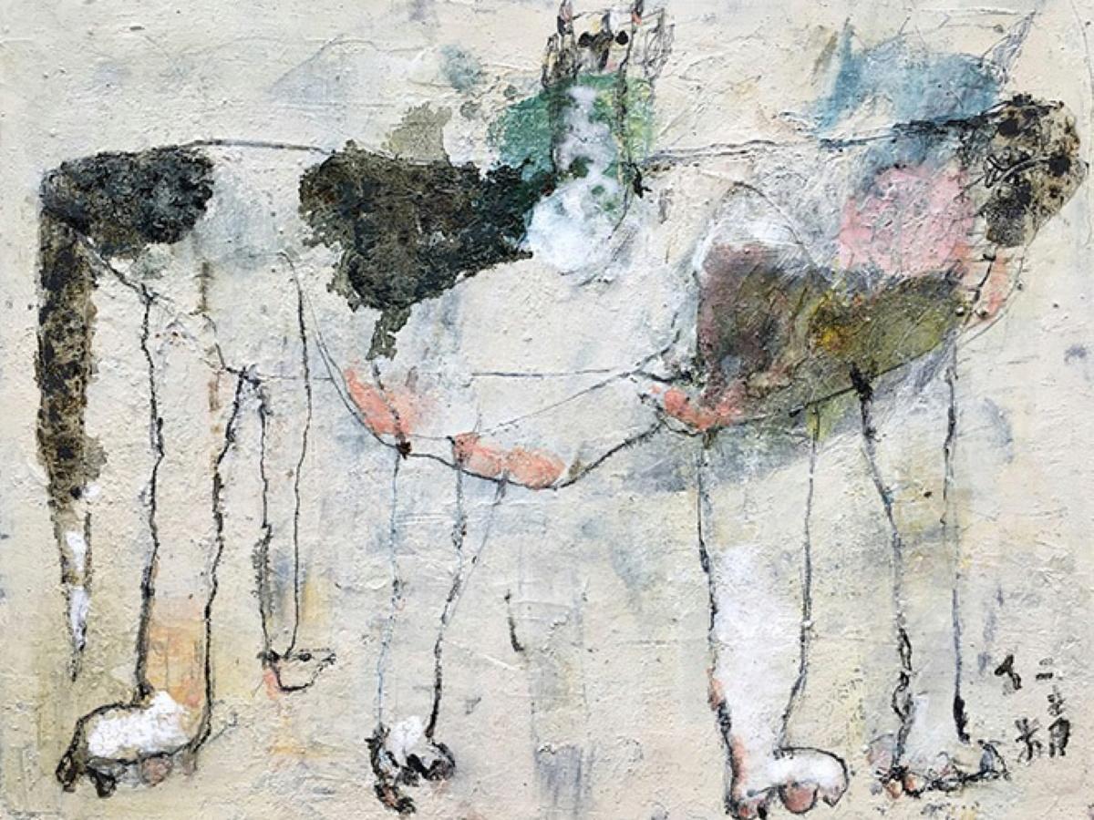 濱崎仁精さん絵画展「うみのよる」作品