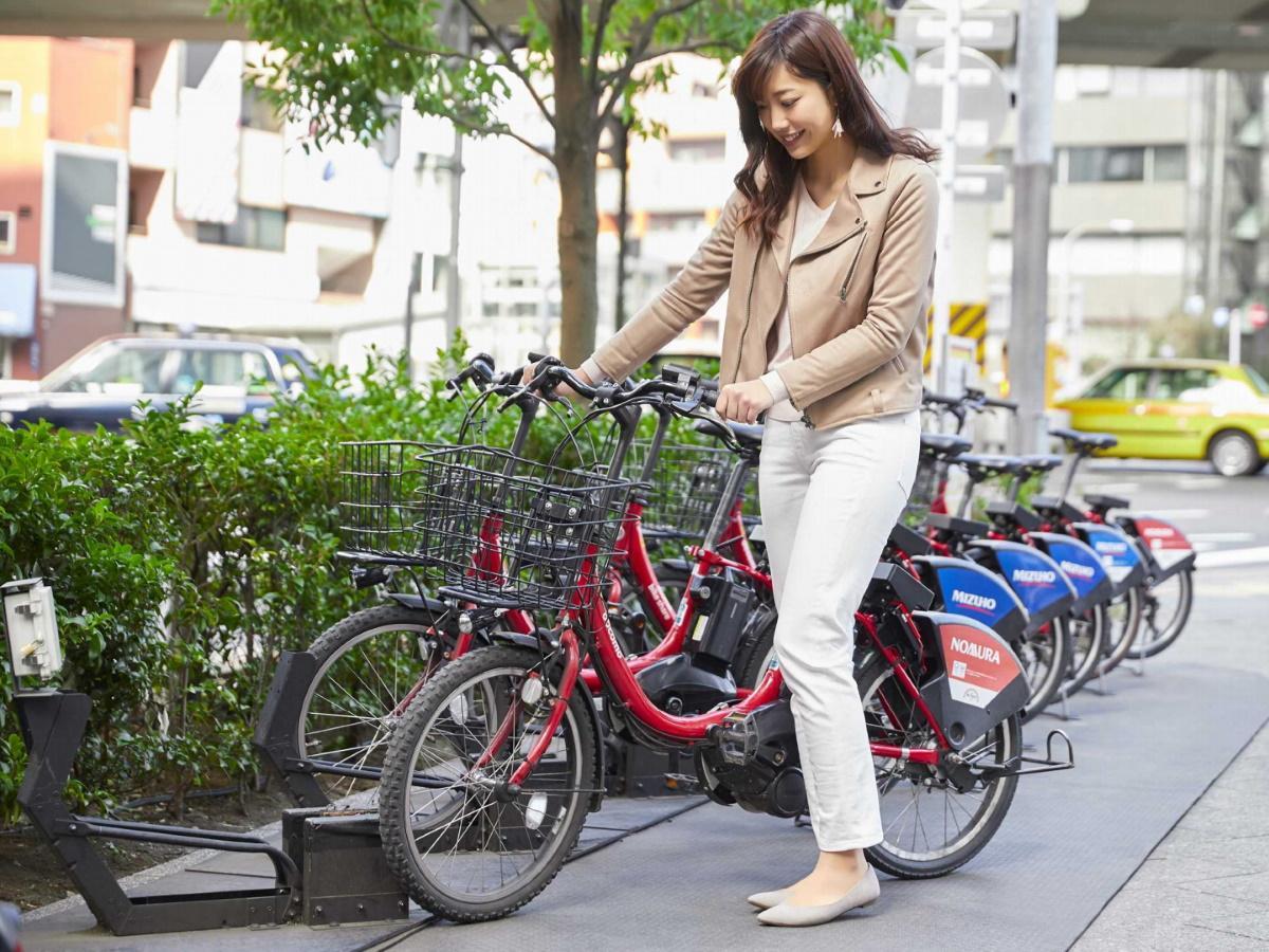 ドコモ・バイクシェアのシェアサイクル(イメージ)