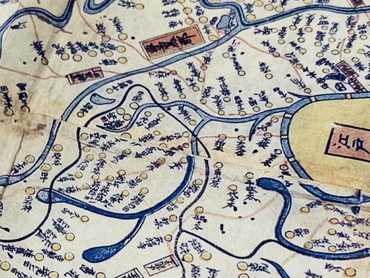 1836(天保7)年の「武蔵国輿地全図 完」(中野付近)