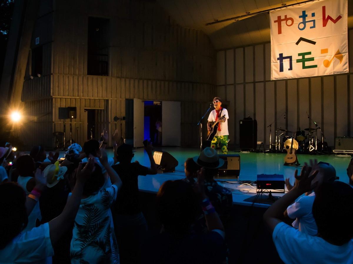 9月1日に日比谷公園大音楽堂で開催「やおんへカモン!」の様子(写真は秋田隆輝さん)