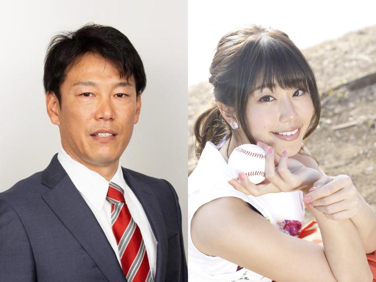 ゲストの井端弘和さん(左)と稲村亜美さん(右)