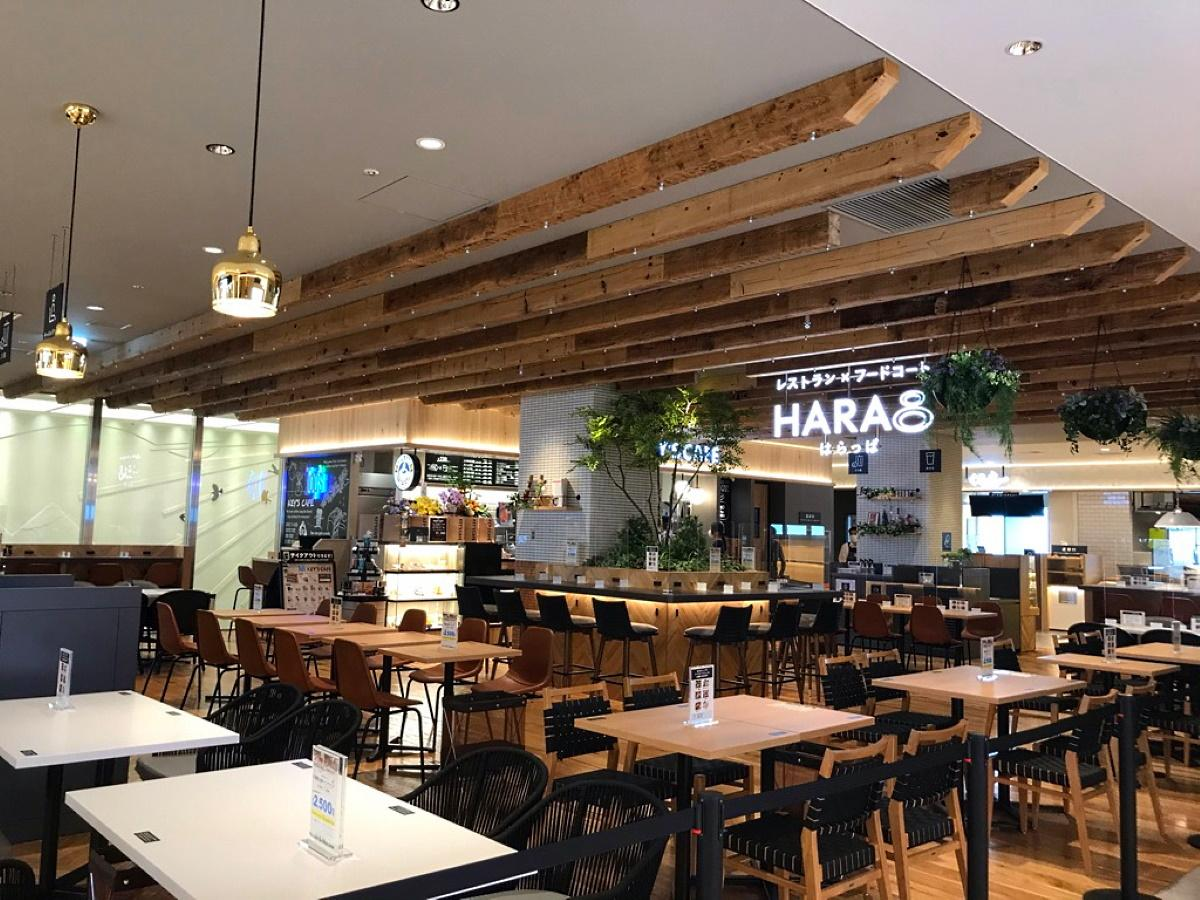 会場となる中野マル5階レストラン×フードコート「HARA8(はらっぱ)」