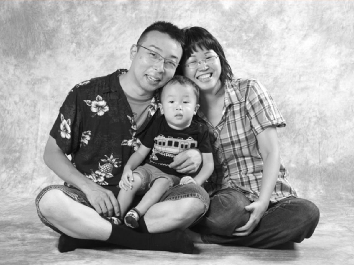 過去開催時の家族写真作品 ©ハートフルフォト