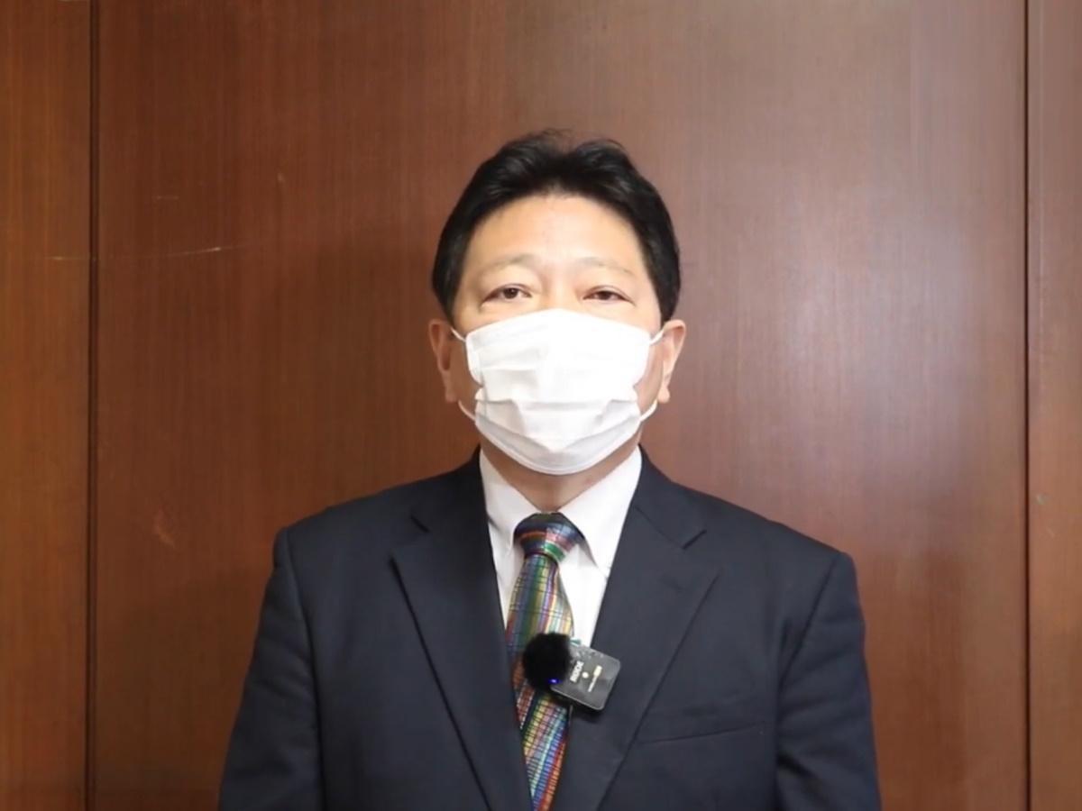酒井直人中野区長(区長定例記者会見後)
