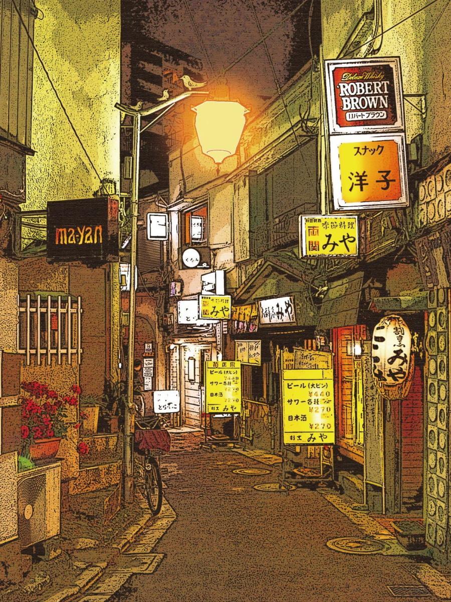 再開発が進む前のムーンロード(東京テクニカルカレッジWeb動画クリエイター科提供)