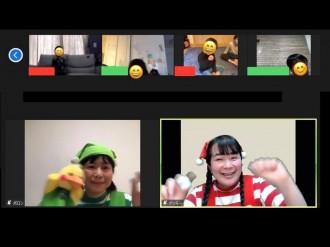 中野の子育て支援団体が体験型オンライン劇場 北川桜さんらが歌と遊びを双方向で