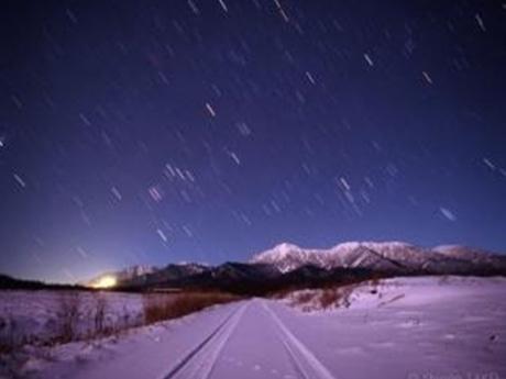 写真展「星の降る場所」では、「星景」写真を20数点展示(©武井伸吾)