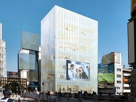 2009年秋に開業を予定している都市型商業ビルの外観予想図