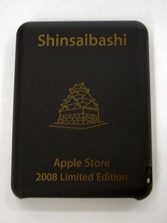 大阪城のイラストが描かれた、アップルストア心斎橋限定販売のiPodケース
