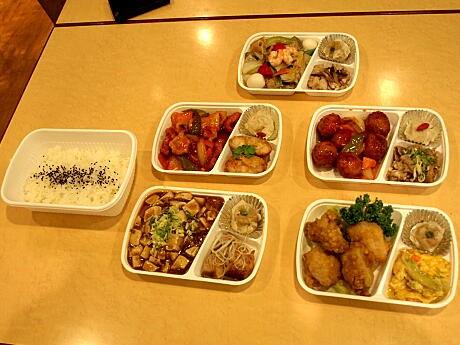 蓬莱本館が販売を開始した中華弁当(380円)