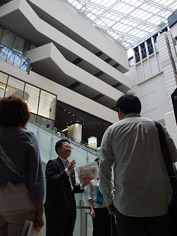 南海ターミナルビルに昨年10月オープンした「なんばガレリア」を見学