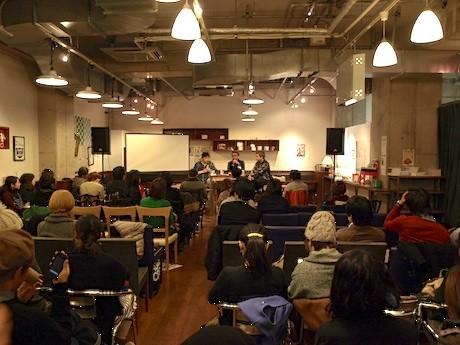 アメリカ村の書店で10時間トークショーが行われた