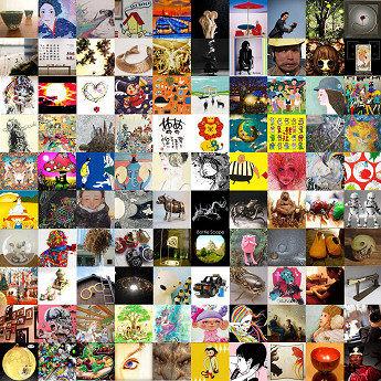 100組のアーティストが100部屋を使い作品展示する