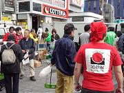 清掃活動後に「たこ焼き」食べ比べ-道頓堀でゴミの日キャンペーン