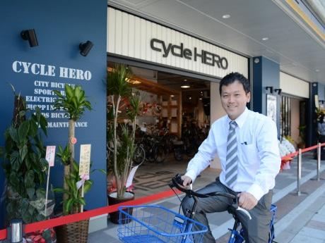 「cycle HERO」を出店するサカイサイクルの杉岡正一社長