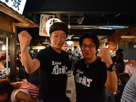 虎目プロジェクトの木村夏也さん(左)と小倉諄大さん(右)