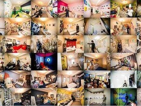 50部屋で50組のアーティストが個展を開く