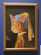 世界の名画を猫アートに 大丸心斎橋で企画展、猫語のコメントにも注目