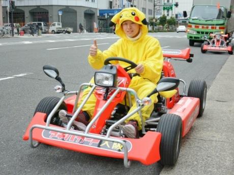 大阪の街をカートで疾走 日本橋にレンタルカート「アキバカート大阪」