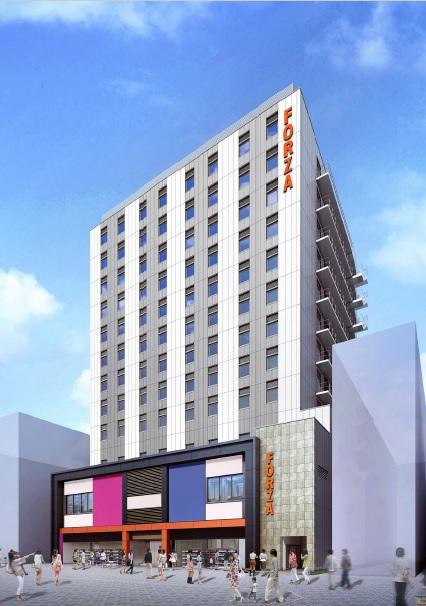 「(仮称)中央区道頓堀1丁目プロジェクト」の外観イメージ