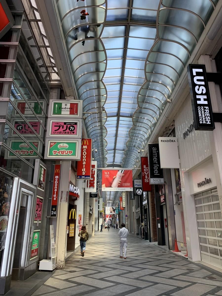 心斎橋筋商店街の様子(4月27日11時ごろ)