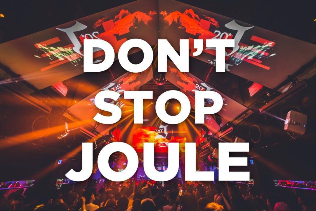 「DON'T STOP JOULE」と出して支援を呼び掛けている