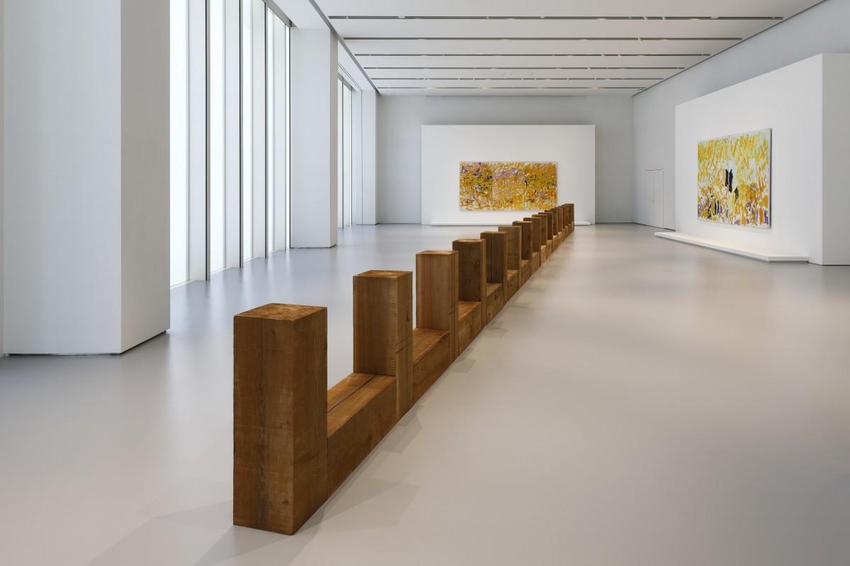 「Joan Mitchell / Carl Andre -Fragments of a Landscape(ある風景の断片)」展展示風景、 エスパスルイ・ヴィトン大阪、2021年Photo credits: © KeizoKioku/Louis Vuitton