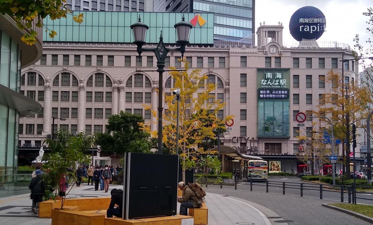 南海なんば駅(昨年11月撮影)