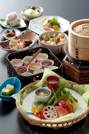ホテル日航奈良が発売する「健康志向ランチ」の使った「お野菜 和ランチ 菜香味(なごみ)」