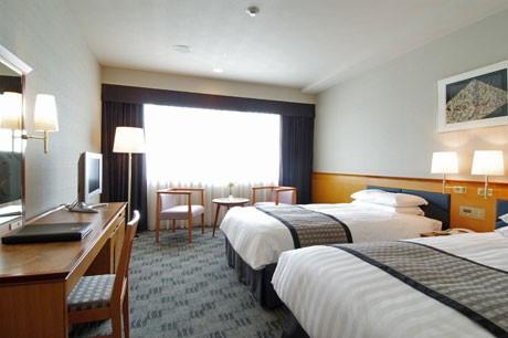 「もう一度行くなら(奈良)半額」プランを行うホテル日航奈良のスタンダードツインルーム(イメージ)