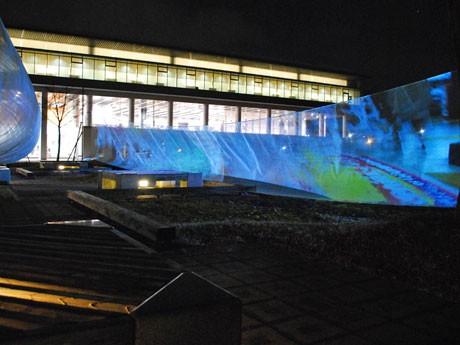 奈良県立図書情報館で始まった「ひかりのポリフォニー