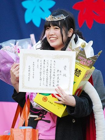 ミス奈良女子大学でグランプリに輝いた奥山美幸さん