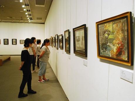 「入江泰吉と須田剋太の奈良」展示の様子