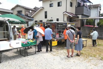 奈良市菅野台に「移動スーパー」 自治会事業として買い物難民支援